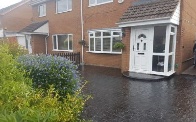 We can repair your imprinted concrete driveway